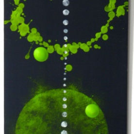 Untitled (With green spheres)